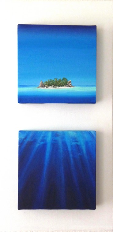 """Island and sea"" by Didier Gobert"